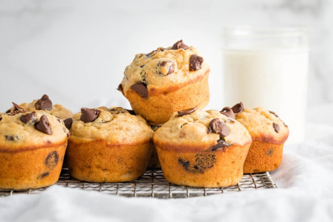 Banana chocolate chip muffins.