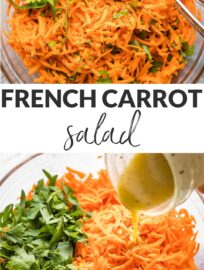 This French carrot salad recipe is simple, fresh, delicious, and healthy! Grated carrots, fresh parsley, and an easy honey Dijon dressing make the magic.
