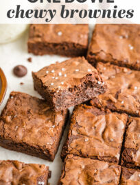 The best chewy brownies are packed with chocolate and made from scratch — in just one bowl, with pantry staples, in less than 45 minutes. Learn all the secrets that make these better than even the best boxed mix!