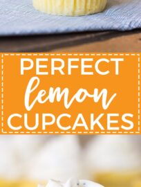 Perfect filled lemon cupcakes - a moist, light cupcake filled with sweet, creamy lemon curd and topped with poppyseed cream cheese frosting. Your perfect citrus dessert for spring and summer!