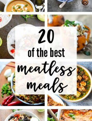 20 Of The Best Meatless Meals   A roundup of easy, delicious vegetarian dinner ideas   nourish-and-fete.com