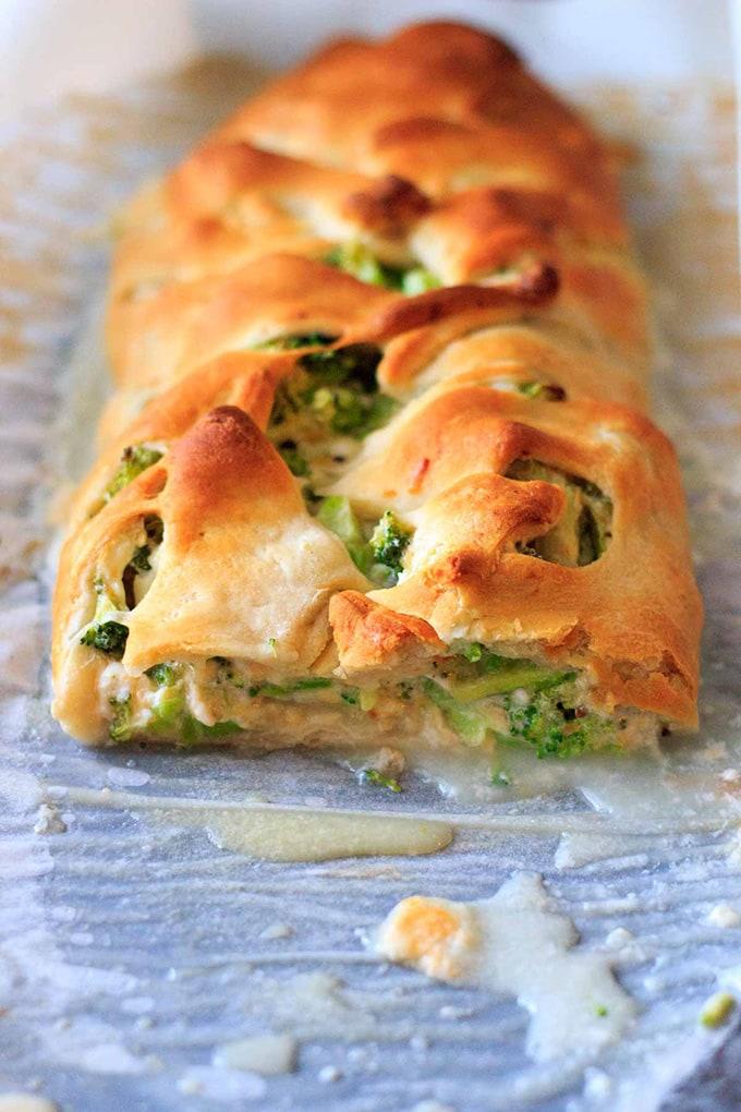Broccoli crescent wrap - trialandeater.com