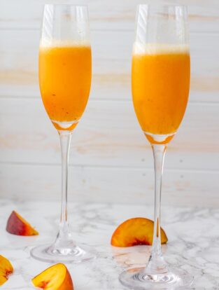 Classic peach bellini   The essential sparkling cocktail with champagne or prosecco and lightly-sweetened peach puree.