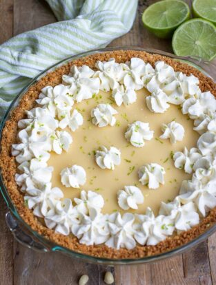 Key Lime Pie   A cool, creamy, classic spring summer dessert, fast and easy to make with fresh lime juice and a graham cracker macadamia nut crust.