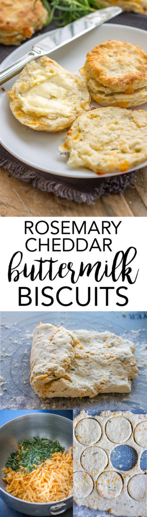 Rosemary cheddar buttermilk biscuits   Flaky, buttery layers, a perfect side for soup, chili, Thanksgiving, or any cozy meal. #thanksgivingsides #biscuits