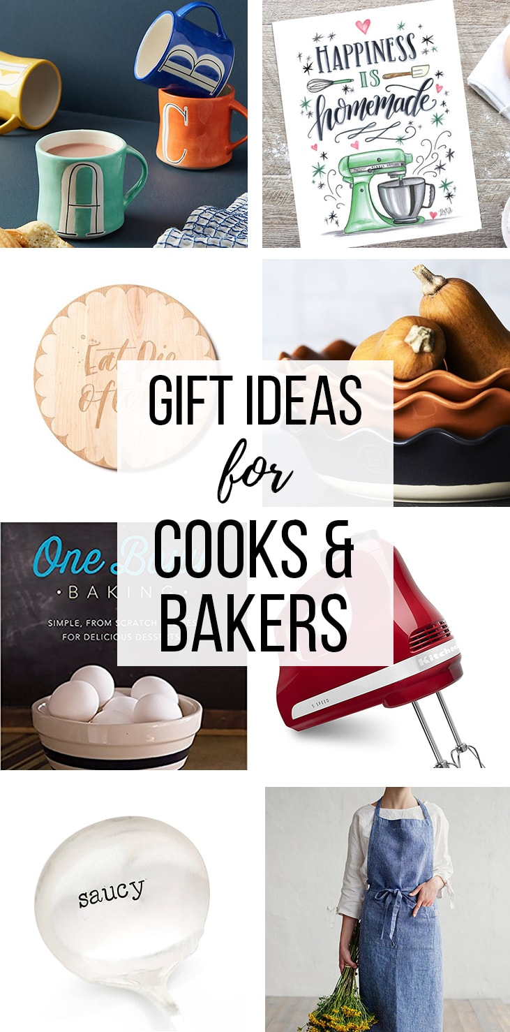 Gift ideas for cooks and bakers.