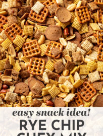 This fantastic recipe is perfect for Chex mix! Like the original but with even more delicious savory seasoning and loaded with irresistible rye chips. This is a must-have for Christmas and the holidays, and a crowd-pleasing snack for any time of year! #chexmix #snacks