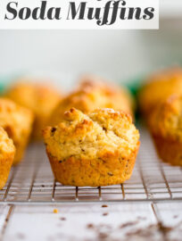 Caraway Irish soda bread muffins are so fast, easy, and delicious. Perfect for St. Patrick's Day breakfast, snacks, or sides!