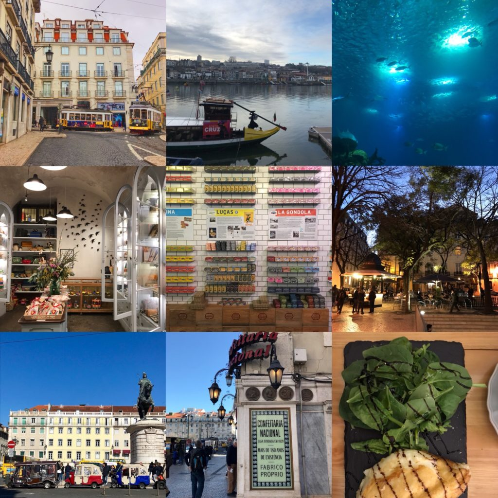 A compilation of nine favorite photos from a family trip to Portugal.
