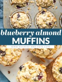 Blueberry almond muffins are easy to make, irresistibly tender, and packed with blueberries and almond flavor. The perfect thing to make for brunch or when having overnight guests!