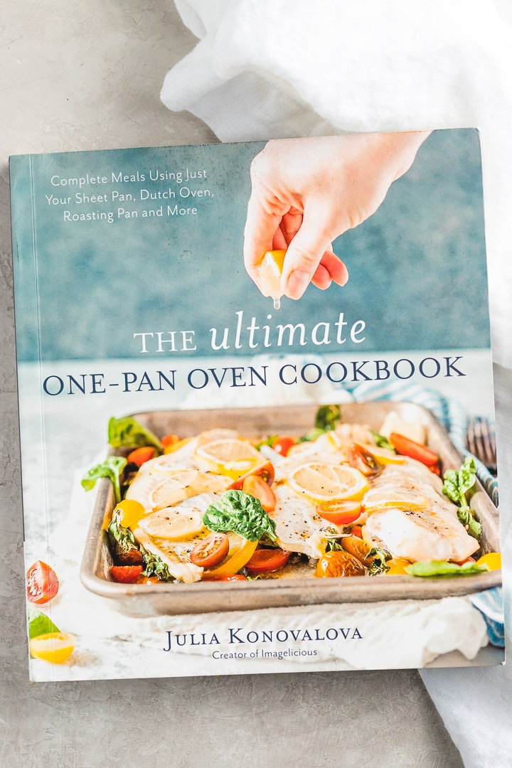 Photo of The Ultimate One-Pan Oven Cookbook by Julia Konovalova.