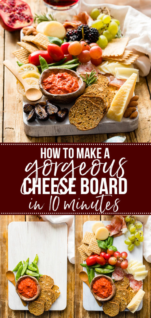 Learn how to make a cheese board that will wow your guests in just a few minutes with this simple guide! What to include and how to put it all together - this is all the cheese board inspiration you need for holiday parties and more! #entertaining #appetizers #cheeseboard