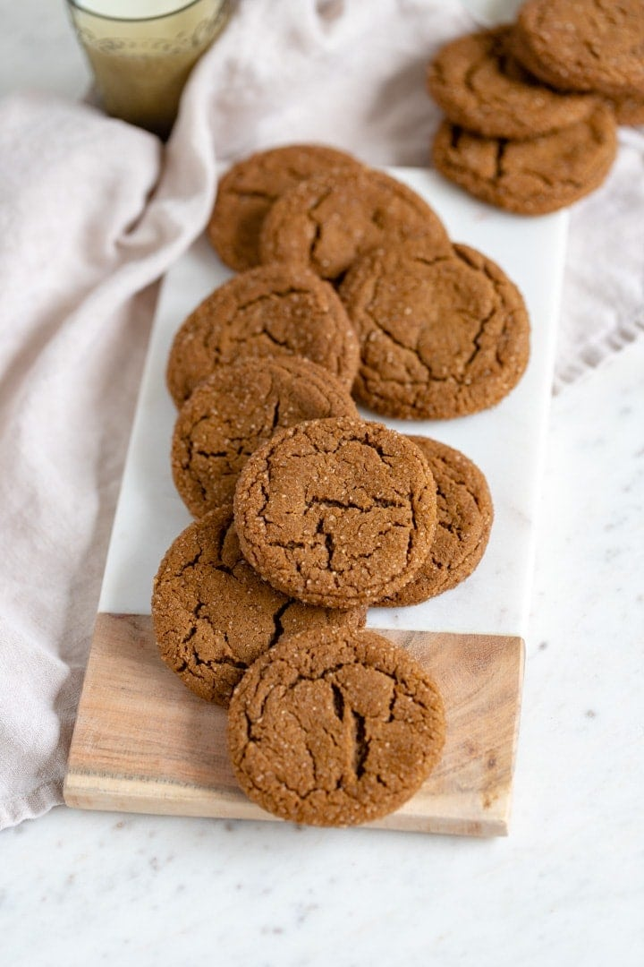 Chewy Ginger Molasses Cookies Nourish And Fete