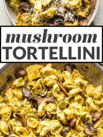 With this simple and delicious recipe for fresh Tortellini with Mushrooms, Butter, and Parmesan cheese, dinner can be on the table in just 20 minutes.