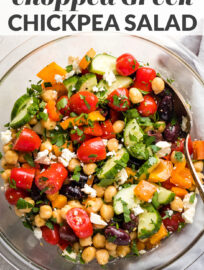 Chopped Greek chickpea salad.