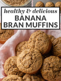 These are the best banana bran muffins ever! Healthy and easy to make, moist and delicious, and high in fiber. Add chocolate chips or blueberries for even more flavor.