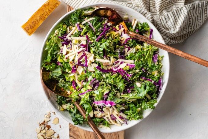 Landscape image of salad in bowl.