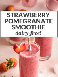 Strawberry pomegranate smoothie - dairy-free!