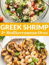 Greek Shrimp Skewers with Orzo Salad