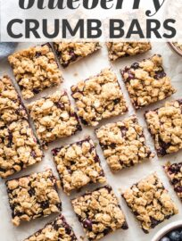 Simple blueberry oatmeal bars combine tender crust, juicy filling, and golden crumb topping in every delicious bite! These take just 10 minutes to throw together, have amazing flavor, and make a great breakfast, snack, or dessert.