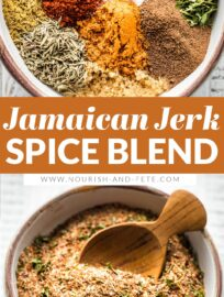 Save money and customize your own Jamaican Jerk seasoning right at home! Spicy, sweet, utterly irresistible - perfect with chicken, fish, veggies, and more!