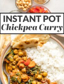 You'll be amazed how simple it is to make this Instant Pot Chickpea Curry at home with a few basic veggies and pantry ingredients. Good for the body, good for the soul! Vegan and gluten-free.