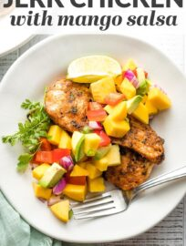 This easy recipe uses a spice blend to deliver delicious Jamaican jerk chicken in a fraction of the usual time. Pair with fresh mango salsa!