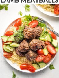 Lamb meatballs are easy to make and perfectly spiced with this easy Mediterranean-inspired seasoning blend. Serve with veggies, couscous, or pita for a fun meal ready in 30 minutes.