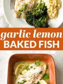 This recipe for Baked Lemon Tilapia with a delicious garlic butter sauce is the absolute easiest way to enjoy a healthy fish dinner at home. With minimal prep and quick, hands-off cooking, you can have this on the table in just 20 minutes.