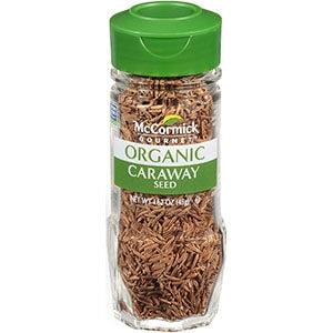 Caraway seeds in jar.