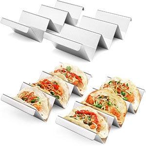 Metal taco holders.