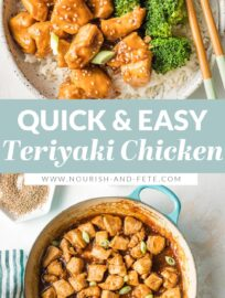 With tender bites of chicken coated in a sweet, silky homemade sauce, this easy Teriyaki Chicken will be a new back-pocket recipe for busy weeknights. Ready in less than 30 minutes!