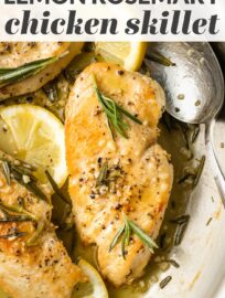 Zesty lemon and woodsy rosemary are a beautiful flavor combination to make simple chicken breasts shine. This is a quick and easy skillet meal that's done in about 30 minutes.
