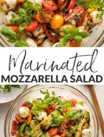 Marinated Mozzarella Balls are the simple yet impressive heart of this delicious recipe, which makes a terrific salad or appetizer. It's quick, easy, fresh, and beautiful!