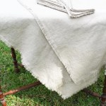 Diy Linen Tablecloth And Napkins Nourish And Nestle