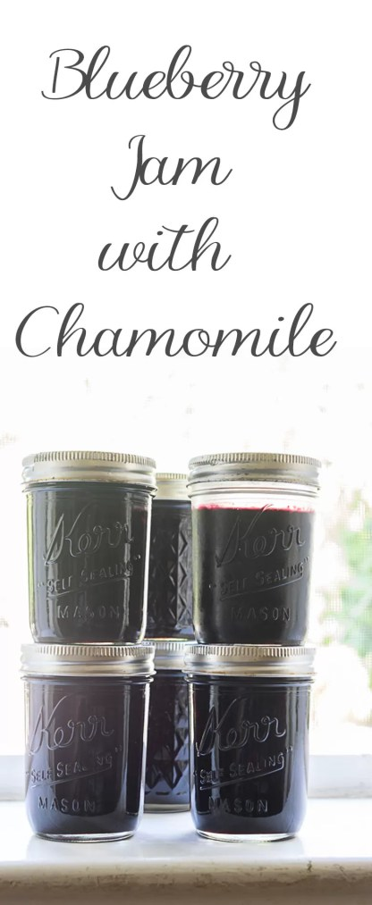 A recipe for blueberry jam infused with chamomile, preserved by water bath canning. Canning the jams lets you enjoy them for months to come