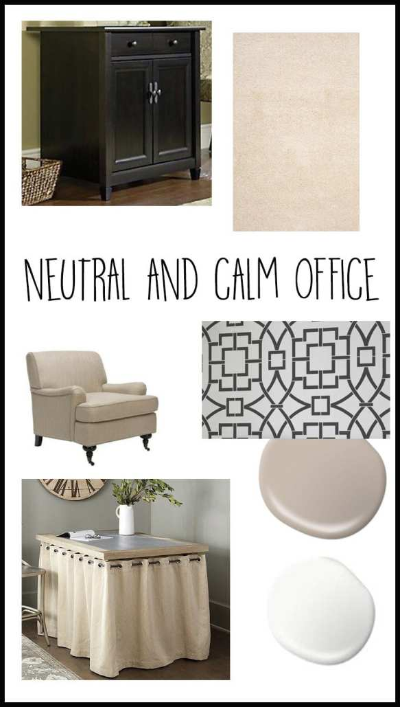 I'm joining the One Room Challenge for the second time, this time transforming my bold and colorful office to a neutral and calm office / craft room.