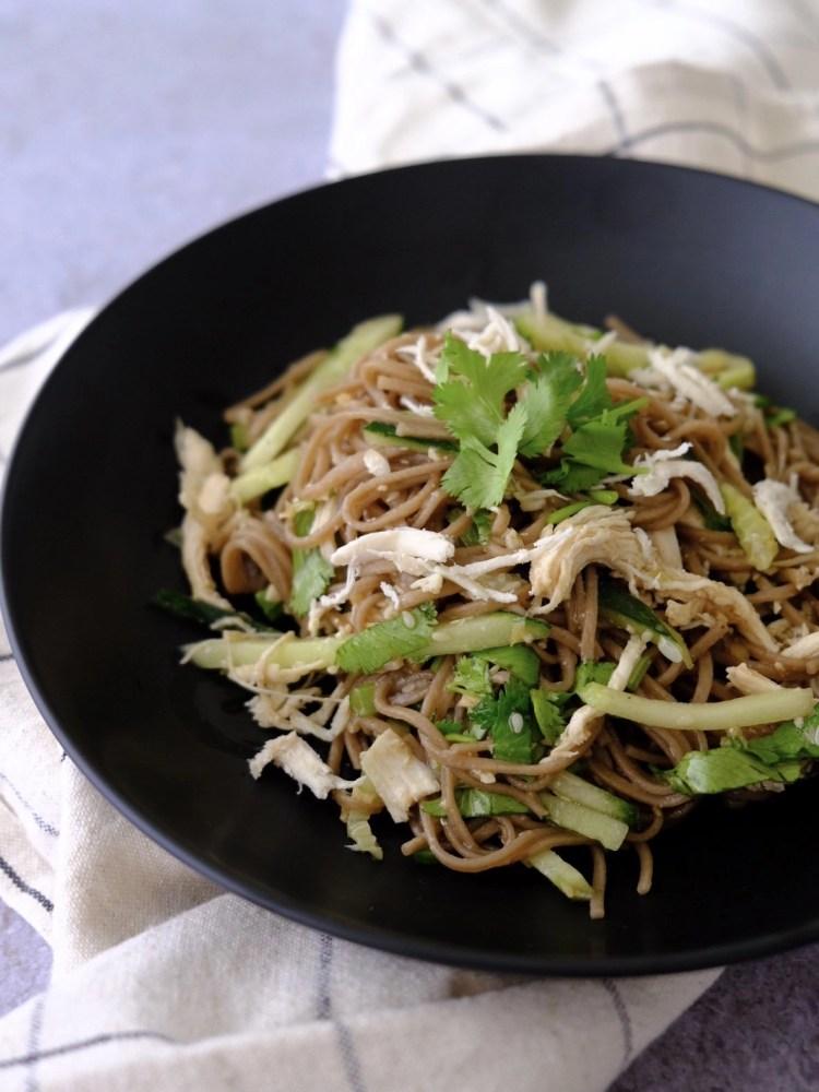 Chicken soba noodle salad