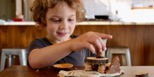 Playing with Nature and Homemade Playdough Recipe