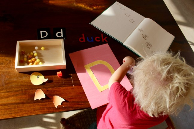 Simply Learning Kids Duck Craft Letter D