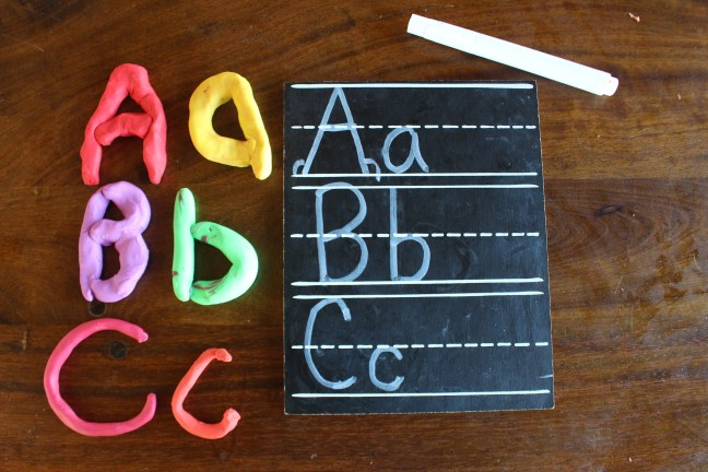 clay letters for fine motor skills