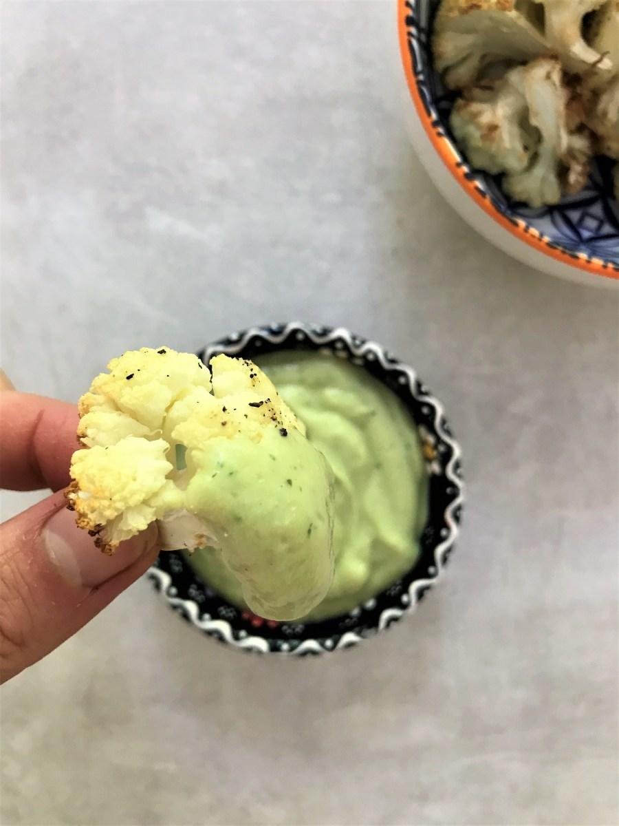 Pistachio and Date Quinoa with Roasted Cauliflower
