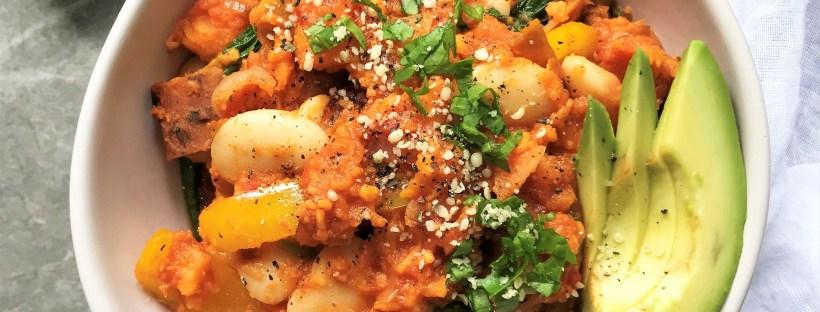 Tomato Spiced Sweet Potato Smash