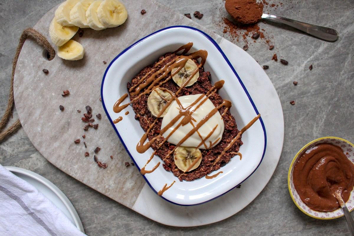Chocolate Banana Bread Baked Oatmeal
