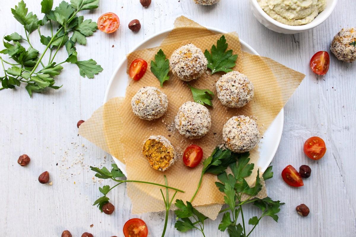 Hazelnut and Paprika Falafel