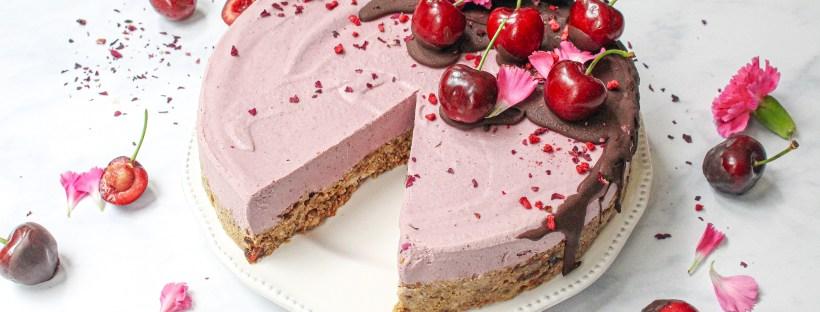 Raw Cherry Chocolate Baobab Cheesecake