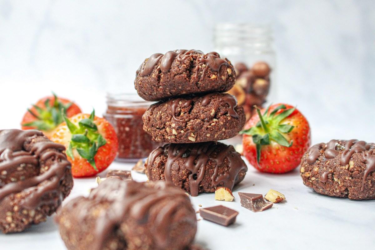 Chocolate Jam Thumbprint Cookies