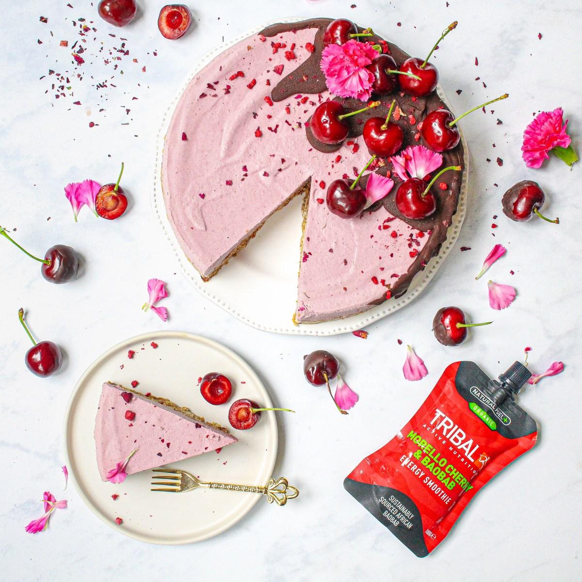 Raw Cherry Chocolate Baobab CheesecakeRaw Cherry Chocolate Baobab Cheesecake