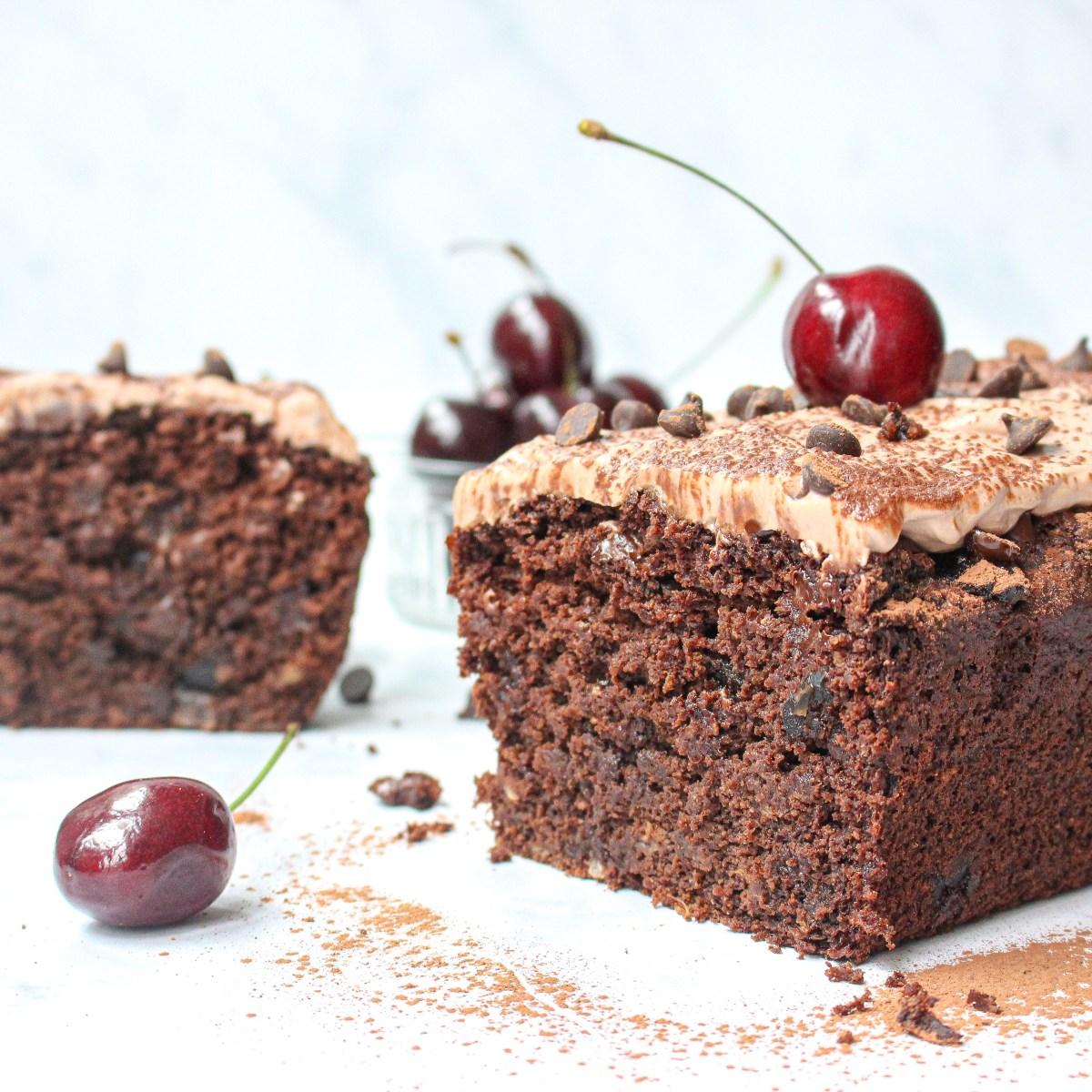 Chocolate and Cherry Banana Cake