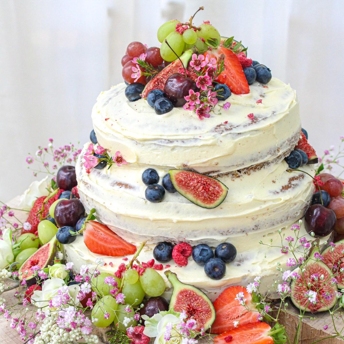 Vegan Vanilla Wedding Cake